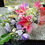 今日は、花束です。