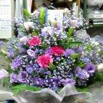 紫色のアレンジメント。