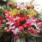 クリーニング屋さんの開店花
