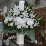 白仕上げのお供えのお花(2018年11月19日)