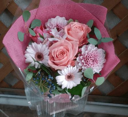 結婚式のブーケ風の花束(2018年11月27日)