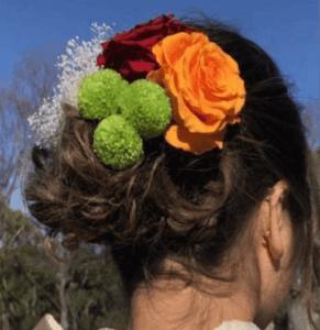 成人式のプリザーブドフラワーの髪飾り