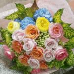 ロケ終了で渡す豪華な花束(2018年1月8日)