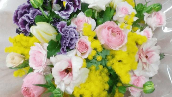 お友達の誕生日のお花(2019年3月12日)