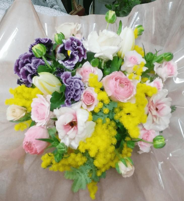 お友達の誕生日のお花