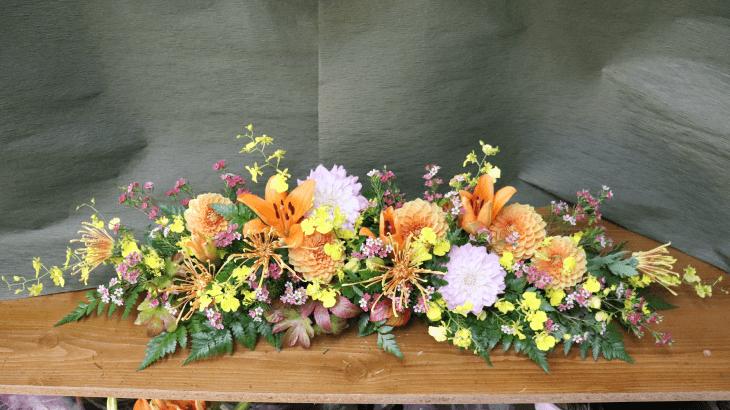 藤原紀香さんを迎えるお花