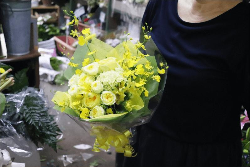 文化創造館での発表会のお花