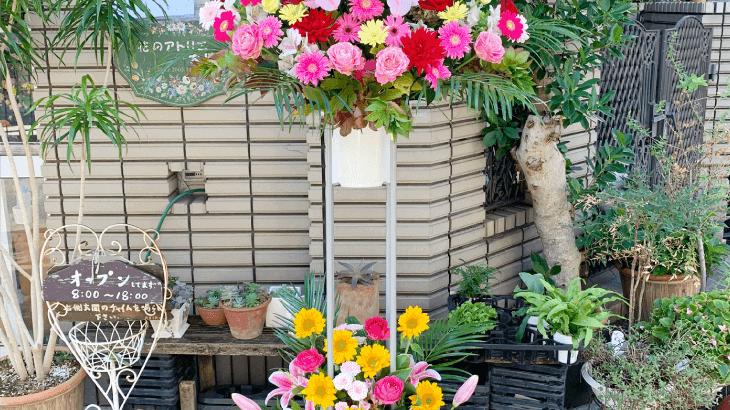 タピオカ屋さんオープンのお花