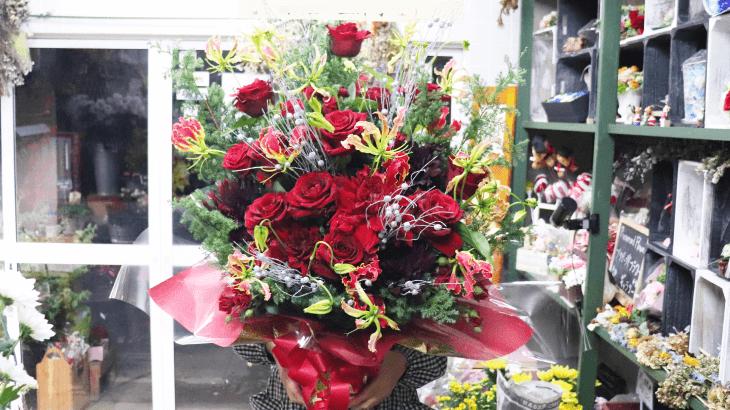 お店の8周年記念のお花