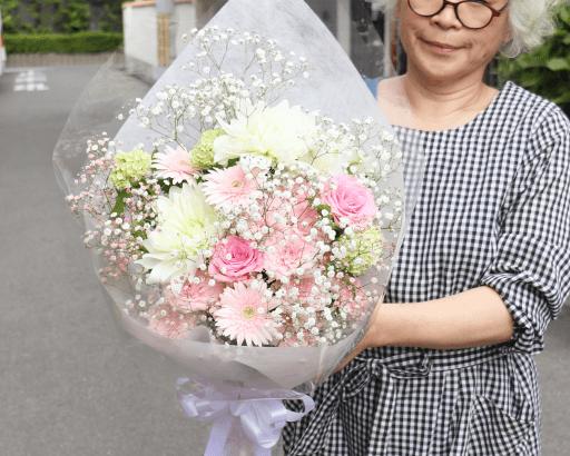 ワンちゃんに供える優しい花束