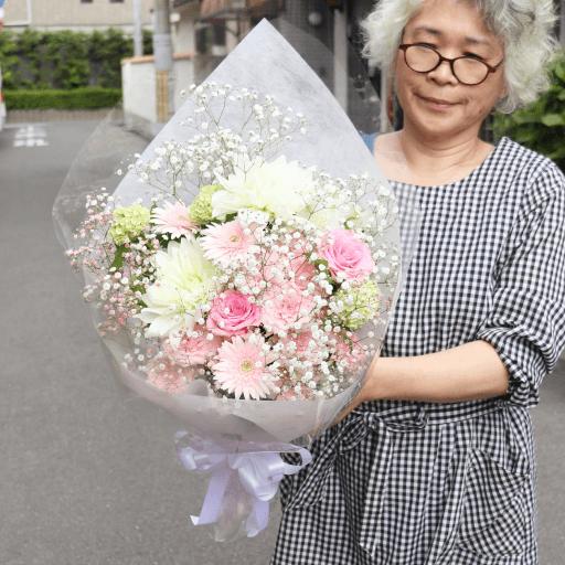 ワンちゃんに供える花束