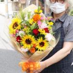 ひまわりの退職のお花