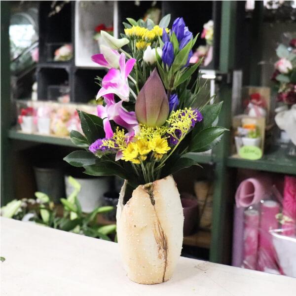 蓮入りの仏花