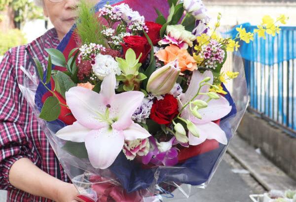 定年退職祝いの花束