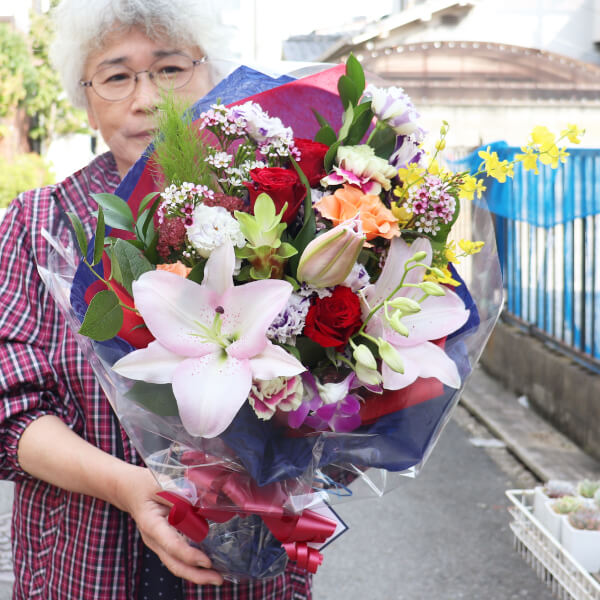 退職祝いの花束